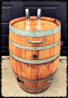 Prototype #1 of the Smoke Barrel Classic.  A hand crafted smoker made and manufactured in Canada #winebarrelsmoker
