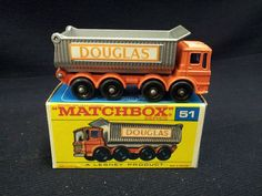 MATCHBOX LESNEY NO.51 AEC 8 WHEEL TIPPER - DOUGLAS