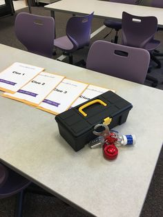 After hearing about Breakout Edu at ISTE this summer I knew I had found my library orientation. I am opening a new STEAM middle school in my district this year and the library is set up by genre, w… Library Games, Library Skills, Library Science, Library Activities, Library Lessons, Library Ideas, Library Inspiration, Classroom Activities, Classroom Ideas