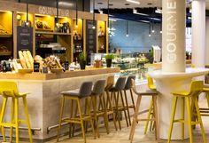 Gourmet Bar by Kitzig Interior Design, Munich – Germany Restaurant Concept, Cafe Restaurant, Restaurant Design, Restaurant Interiors, Lobby Bar, Design Blog, Design Studio, München City, Food Retail