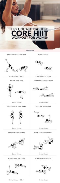 CORE HIT Workout For Women #workout #fitness #exercises #health