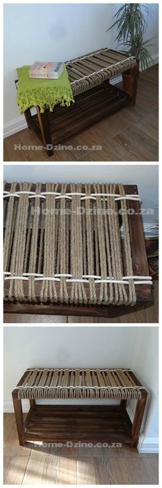 Make woven jute rope bench #furniture #seating #woodworking #weaving
