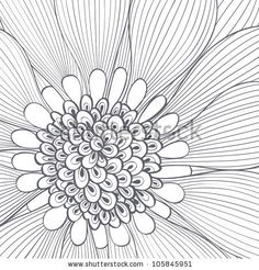 Hand drawing abstract floral background. Flower  isolated closeup. Element for design. Vector illustration. - stock vector