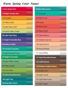 True Spring color names Bright Spring, Clear Spring, Warm Spring, Warm Autumn, Spring Color Palette, Spring Colors, Color Palettes, Seasonal Color Analysis, Quoi Porter