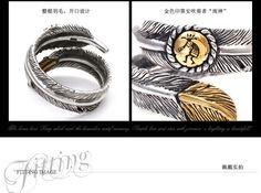 Хорошо Vibrations подлинное перо тенденции серебряные кольца разводный кольцо открытие мужчин и женщин серебро