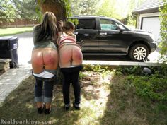 Mother and daughter forgot to pack some travel essentials for a trip planned long in advance. When they got back home to pick up, both got a well deserved spankings.