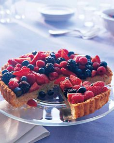 Passover Dessert Recipes | Martha Stewart Living - This tart is a showstopper; try it for Passover, then return to the recipe later in the summer when local berries are at their peak. The almond filling gets its luscious consistency from soy cream cheese.