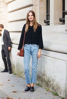 look parisino holgado