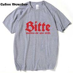 Suicide Squad T Shirt Men Summer Bitte Joker Squad T-shirt  Short Sleeve SCARY GERMAN GUY Letter Top Tees 3XL #Affiliate