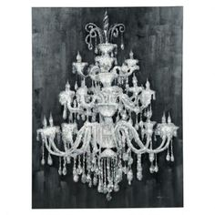Chandelier Wall Art $349 | Urban Barn | For Stair Way