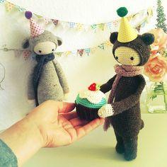 lalylala » Birthday CUPCAKES – a free lalylala crochet pattern
