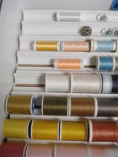 Here's a homemade option that my DH and I came up with for storing thread spools in my sewing room that would work for spices just as well. ...