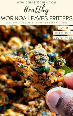 Deep Fried Recipes, Quick Recipes, Fall Recipes, Vegan Recipes, Indian Snacks, Indian Food Recipes, Moringa Recipes, Vegetarian Platter, Moringa Leaves