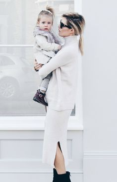 Eimear Varian Barry, fashion blogger and mummy to adorable Saoirse, showing off their River Island and River Island Mini style!