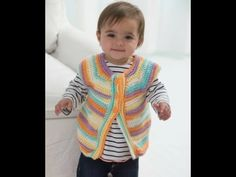 Yolanda Soto-Lopez Shows You How to Crochet an Adorable Baby Vest with Just One Skein of Ice Cream! | Lion Brand Notebook One Skein Crochet, Crochet Vest Pattern, Crochet Bebe, Cute Crochet, Crochet For Kids, Baby Knitting Patterns, Baby Patterns, Crochet Patterns, Free Pattern