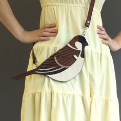 Sparrow bag by broundoor. too cute! #bird #bag #sparrow #gorgeous #style #inspiration