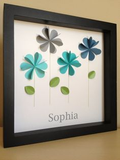 Colorful Flowers 3D Paper art.  Forget buying it, I'm having Emily make her own!
