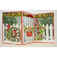 IC Christmas Decorations by Stamperrobin - Cards and Paper Crafts at Splitcoaststampers Christmas Card Crafts, Holiday Cards, Christmas Cards, Christmas Decorations, Fancy Fold Cards, Folded Cards, Snow Texture, Heartfelt Creations Cards, Pop Up Box Cards