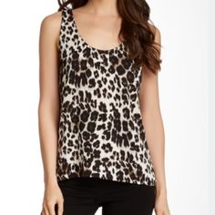 DVF SZ L Silk Leopard Print Tank NWT Fully Lined 95% Silk 5% Spandex 100% Polyester Lining Flawless NWT Size Large  No PP/Trades Bundles and Offers! Diane von Furstenberg Tops Tank Tops