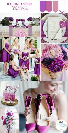 Purple Pink Radiant Orchid wedding Inspiration