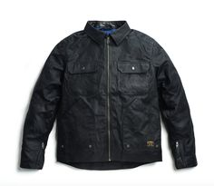 THE DRIGGS Waxed Canvas Black Riding Jacket – Jane Motorcycles