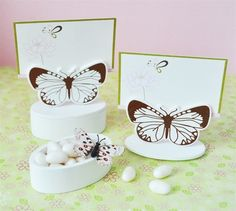 Butterfly Placecard Favor Boxes with Placecards