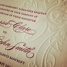 More #letterpress #blindimpression on #weddinginvitations