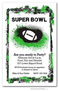 Superbowl Party Invitation Wording Best Of Grunge Football Super Bowl Party Invitations Wedding Invite Wording Funny, Birthday Party Invitation Wording, Super Bowl Party, Printable Invitation Templates, Printable Party, Invitation Ideas, Football Party Invitations, Party Planning Checklist, Grunge