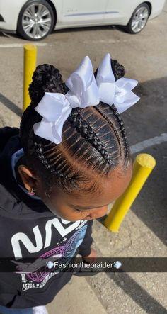 Braided Hairstyles For Kids, Kids Cornrow Hairstyles, 4 Braids Hairstyle, Little Girls Natural Hairstyles, Little Girl Braid Hairstyles, Cute Toddler Hairstyles, Baby Girl Hairstyles, Beautiful Hairstyles, Braid Styles For Kids