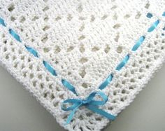 all white crochet baby blanket pattern - Google Search