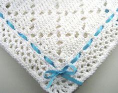 all white crochet baby blanket pattern - Google Search