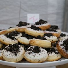 Cookies & Cream mini doughnuts. : @funrad #AnchorBakery #LaunchParty #Mini #Doughnuts #Wedding #DessertTable #OrangeCounty #Engagement #Donut #WeddingFavors #Pops #Sprinkles  Click here to Shop Now! http://www.theanchorbakery.com/#!shop-now/wcdq7