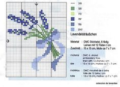 Lavender Free Cross Stitch Chart, You can cause really specific designs for fabrics with cross stitch. Cross stitch versions will almost amaze you. Cross stitch newcomers may make the versions they desire without difficulty. Free Cross Stitch Charts, Simple Cross Stitch, Cross Stitch Flowers, Cross Stitch Designs, Cross Stitch Patterns, Cross Stitching, Cross Stitch Embroidery, Lavender Crafts, Lavender Flowers