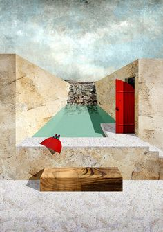 Open air training pool. Lighthouse sea hotel. Siracusa. Young architects competition.
