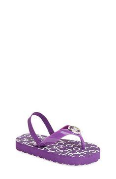 MICHAEL Michael Kors 'Endine' Logo Thong Sandal (Toddler Girls) available at #Nordstrom