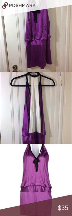 Pinko small, purple dress Purple Pinko small dress. Beautiful design with a sexy back. Worn once or twice. Beautiful piece. Size: small Made in Italy Pinko Dresses