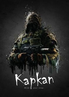 """Rainbow Six Siege Characters Kapkan #Displate artwork by artist """"TraXim"""". Part of a 35-piece set featuring artwork based on characters from the popular Rainbow Six video game. £37 / $49 per poster (Regular size), £74 / $98 per poster (Large size) #RainbowSix #RainbowSixSiege #TomClancy #TomClancysRainbowSix #Rainbow6 #Rainbow6Siege #TomClancysRainbow6 #Ubisoft"""