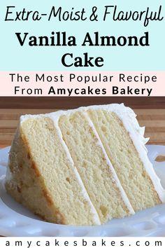Almond Frosting, Almond Cupcakes, Almond Cake Recipes, Sheet Cake Recipes, Almond Sheet Cake Recipe, Cupcake Recipes, Almond Wedding Cakes, Best Almond Wedding Cake Recipe, Wedding Cake Recipes