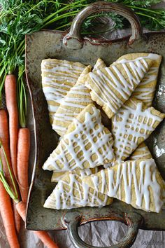 Brown Butter Carrot Cake Scones with Maple Cream Cheese Glaze