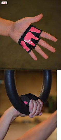 Fit Four Gripper Gloves | Workout Gloves for CrossFit Athletes (Pink, Small),  I want these!!