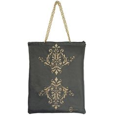 Large shoulder baginspired by Islamic art. Made from natural black leather…