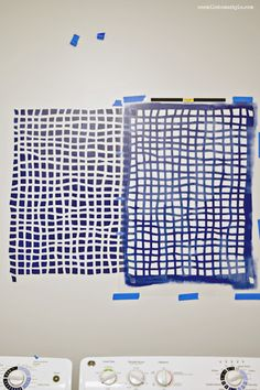 Laundry Room Makeover with Cutting Edge Stencils Mesh Allover Stencil - One Mile…