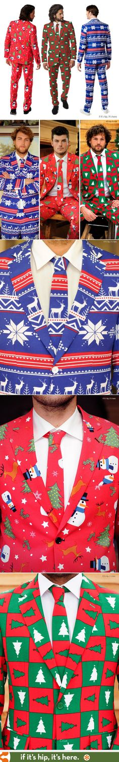 Why wear an Ugly Christmas Sweater when you can rock the Ugly Christmas Suit? | http://www.ifitshipitshere.com/ugly-christmas-suits-fabulously-festive/ Perfect Ugly Christmas sweater substitute :) Lustige Weihnachtspullover äh Anzüge zu Weihnachten. Großartig - perfektes Outfit für jede Weihnachtsfeier!