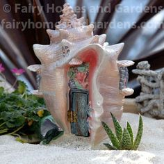 Fairy Homes and Gardens - Conch Condo Mermaid House , $31.50 (https://www.fairyhomesandgardens.com/conch-condo-mermaid-house/)