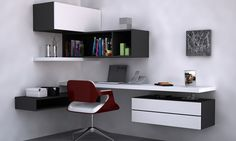 Modern study table design ideas and best home library shelves ideas