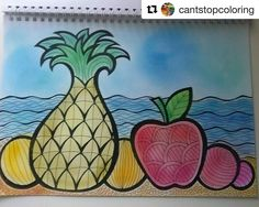 "105 Likes, 10 Comments - Mental Images Coloring Books (@paivivesala_art) on Instagram: ""Need for vacation? Or vitamin C? Or sun? Or warmth? Okay, then you should color this picture!…"""