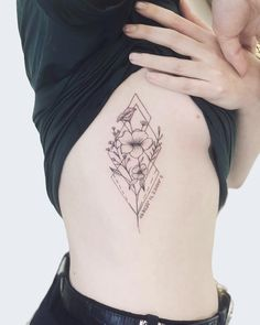 Unique Tattoos, Cute Tattoos, Body Art Tattoos, Small Tattoos, Tatoos, Floral Tattoo Design, Tattoo Designs, Flower Bouquet Tattoo, Orchid Flower Tattoos
