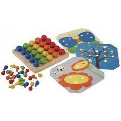 Plan Toys Creative Peg Board provides an ideal tool for teaching patterning and encouraging fine motor skills. Set includes 3 Pattern Cards and 50 wooden pegs in two sizes and five colours.Recommended for Ages 3 Years and upDimensions: cm x x 1 Wooden Wagon, Wooden Pegs, Preschool Toys, Toddler Preschool, Preschool Curriculum, Homeschooling, Plan Toys, Thing 1, Card Patterns