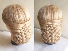 how to:woven updo