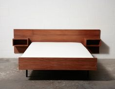 MID-CENTURY DANISH TEAK BED WITH NIGHT STANDS